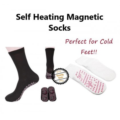 Self-Heating Therapy Magnetic Socks Unisex Black